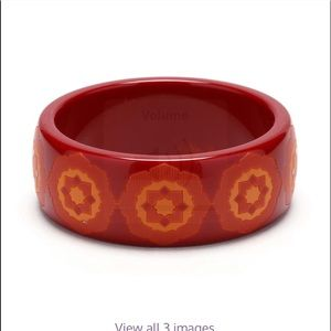 Tiffany's Palermo Picasso resin bangle Red